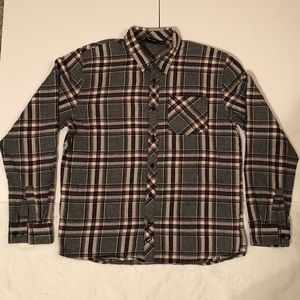 Vans men plaid button down shirt XL